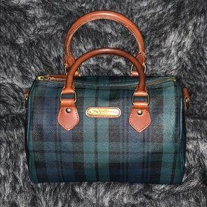 Authentic Vintage Ralph Lauren Plaid Boston bag
